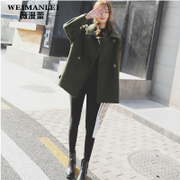Wool tweed coat female short 2017 new spring wind college students tide fashionable little woolen coat