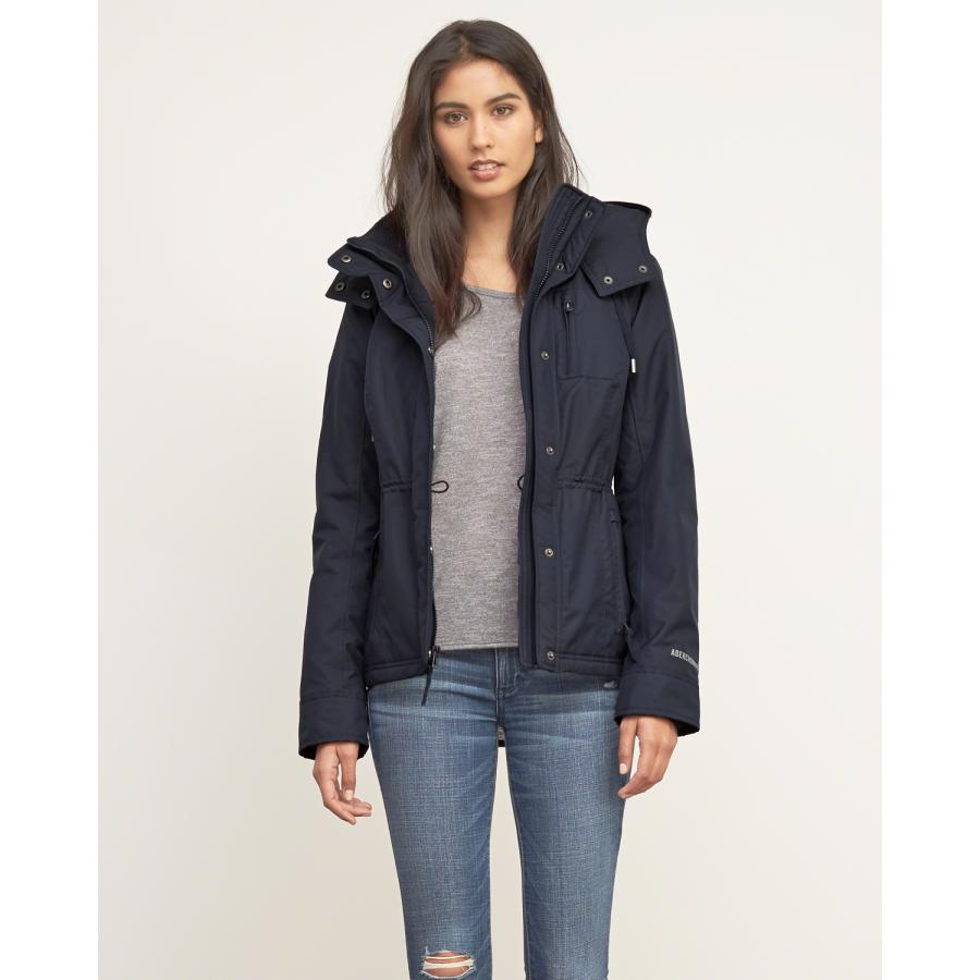 Abercrombie Fitch American website act as purchasing agency female AF full seasons wind hooded jacket, four color spot