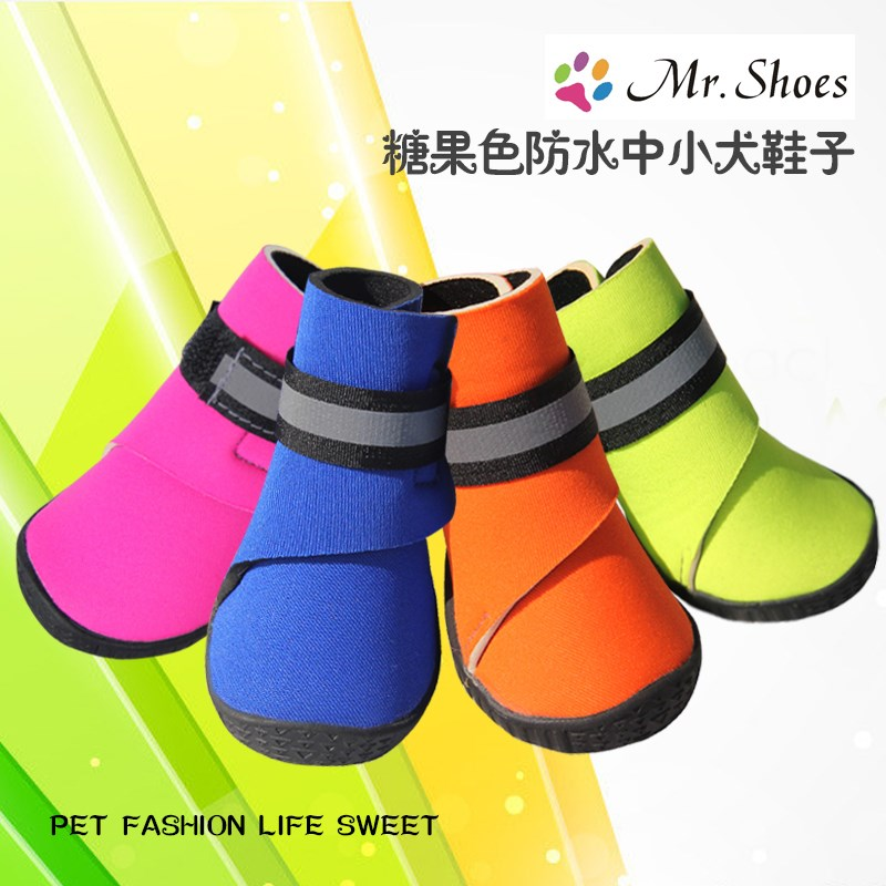 The dog shoes winter shipping small bear Schnauzer Pomeranian cotton boots boots waterproof foot VIP pet set