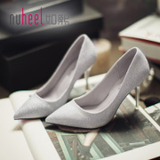 Such as spring summer new hee heels wedding shoes shoes casual shoes with pointed fine Korean tidal shallow mouth shoes