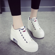 The increase in spring 2017 new female canvas shoes all-match Korean casual shoes soled white shoes summer female students