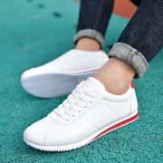 2017 Korean fashion men's shoes, sports casual shoes, small white shoes, men's youth shoes, white Agam shoes