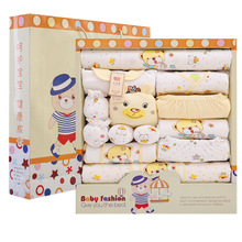 Spring and autumn, just born baby clothes, 0- to 6 months gift boxes, cotton 3 baby baby products set