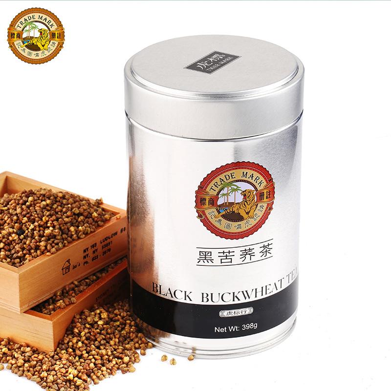 虎标黑苦荞茶398g 罐装 铁盒四川凉山花草茶黑苦荞麦茶正品包邮