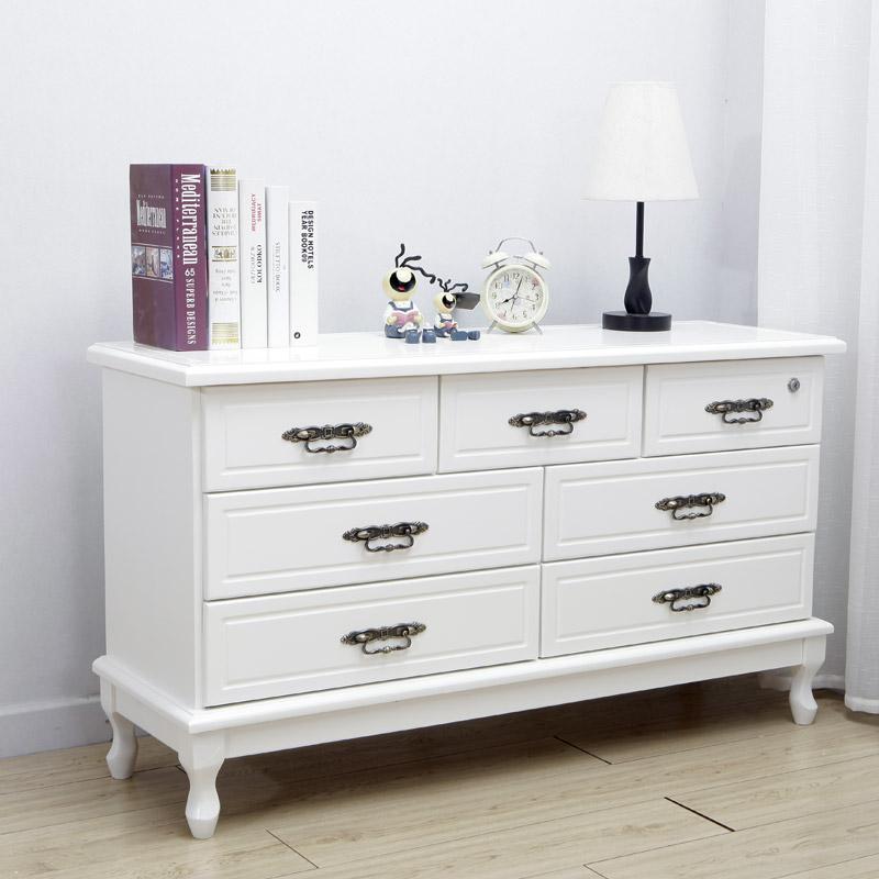 家具白色斗柜实木卧室多斗柜现代简约储物柜抽屉式收纳柜九斗柜
