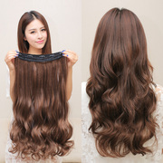 Long curly hair piece wig piece big wave wig stealth one-piece long hair piece wig female seamless extensions