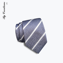 Bai Lite silk silk necktie Mens business suits oblique striped tie gift box