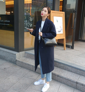 2016 Korean winter new straight long thin cotton wool coat with thickened female knee. Female tide