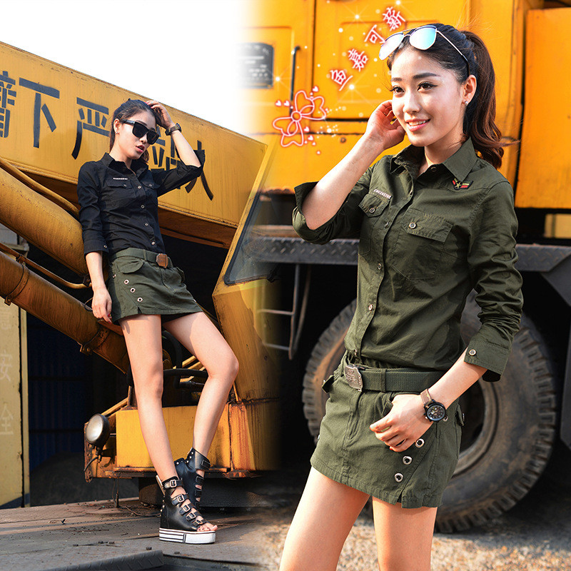Age season for women the special outdoor black long sleeve T-shirt uniform tarmac they camouflage tarmac suits
