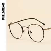 Retro spectacle frames, round glasses, nearsighted women, ultra light round faces, Korean tide metal, short glasses