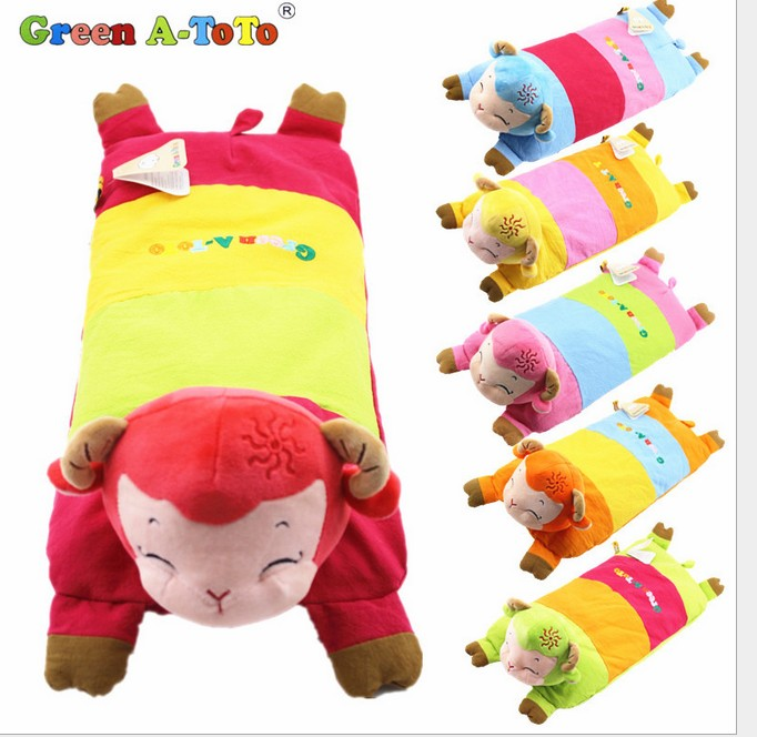 0-1-6 years old children cartoon small sheep, baby pillow, cartoon children buckwheat pillow, lengthen baby shape, prevent leaning