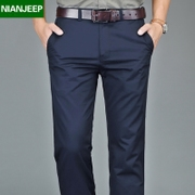 The spring NIAN JEEP business casual pants trousers for men men's trousers straight loose cotton pants male tide