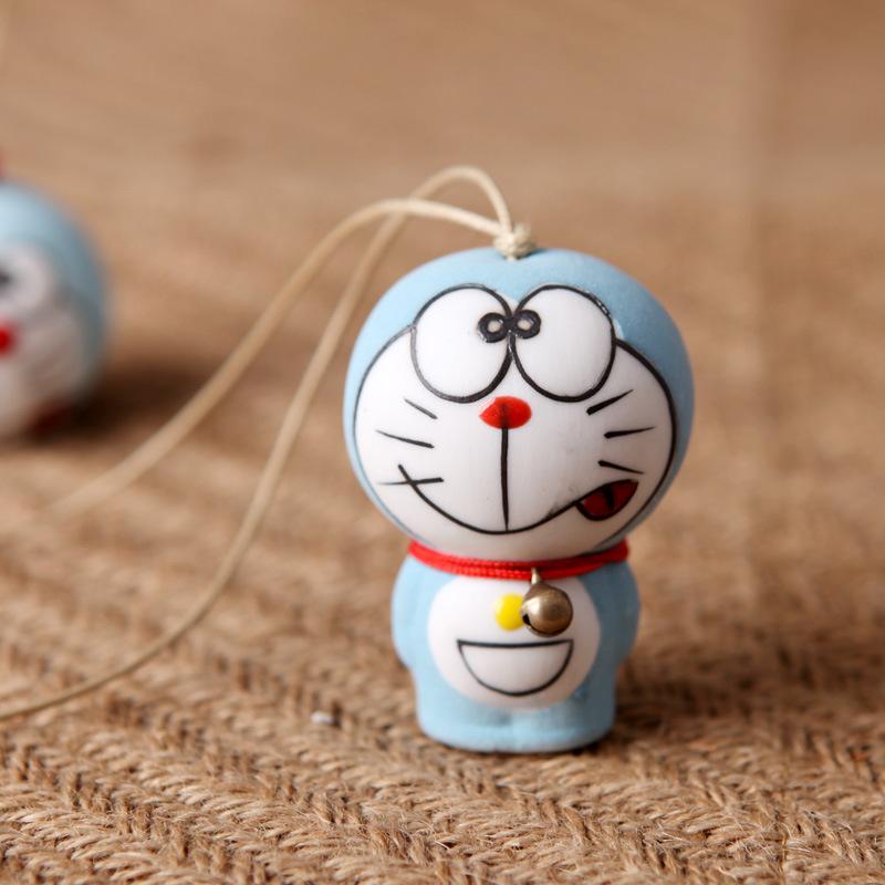 景德镇手绘陶瓷日韩卡通机器猫蓝胖子风铃日式小叮当挂饰哆啦A梦