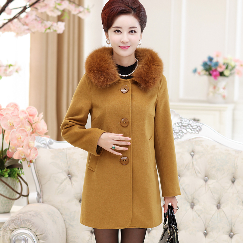 Winter fashion tit is coat coat female mother deposit 30-40 heavy hair get cashmere wool, long