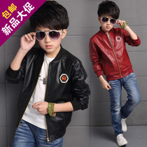5 boys coat thickening 9 plus 4 leather coat jacket 8 plush 6 children with 7 autumn winter 11 small boy 3-12 10