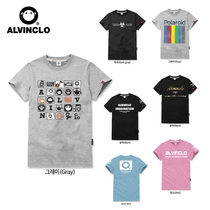 South Koreas purchase of authentic ALVINCLO direct mail men and women gray black white short sleeve t-shirt