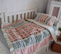 (Korea made-to-measure) H106 cute bear pattern multi color stitching cotton baby bedding