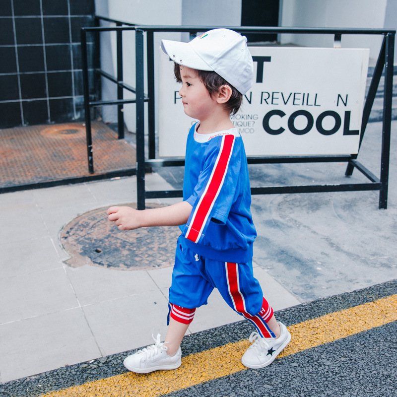 Children's wear, boys, 6 summer, 7 short sleeve, 8 boys, 9 children, seven pairs of pants, 11-12 years old, cotton movement, two sets