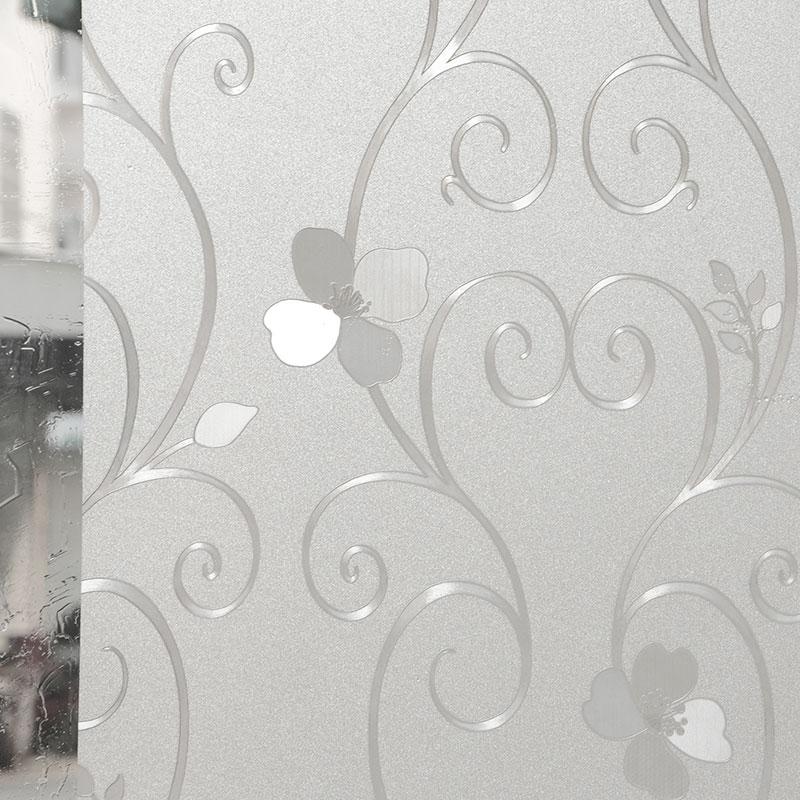 磨砂无胶静电玻璃贴膜浴室卫生间隔热防晒窗户玻璃贴纸透光不透明