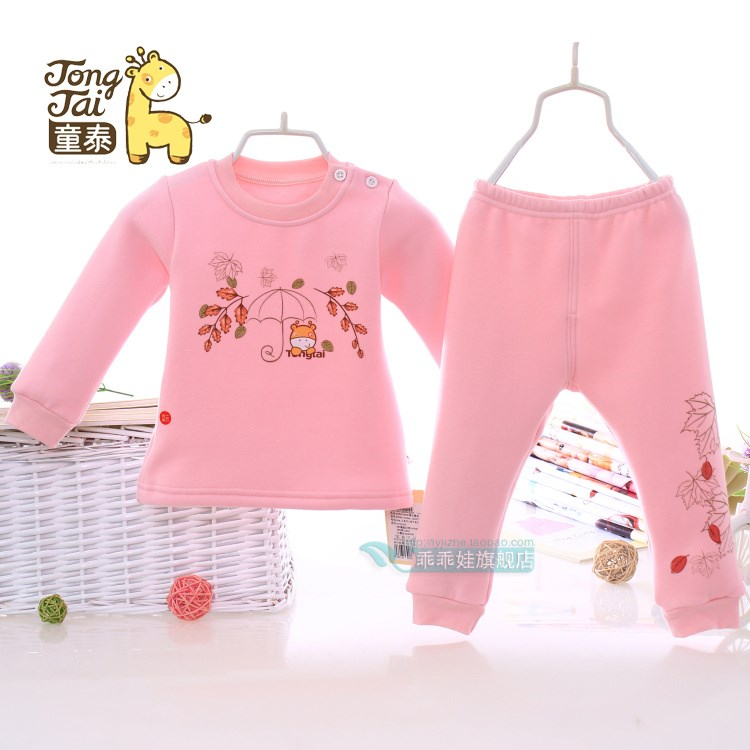 Autumn and winter, new child Tong 30417, no down cashmere, thickening, plush children, thermal underwear, baby clothes