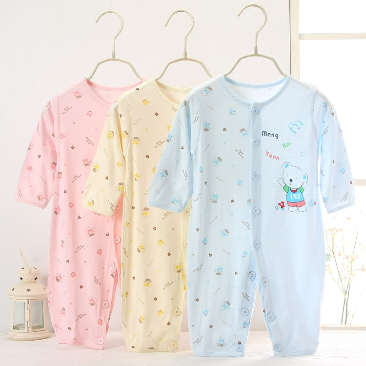 Dream Pui garden 2017 summer long climb cotton blended cloth, long sleeve ha clothing, newborn conjoined garment, general climbing clothes 1850