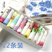 Shipping cotton lace handkerchief handkerchief small crescent lady children retro childhood memories installed 12 28 cm