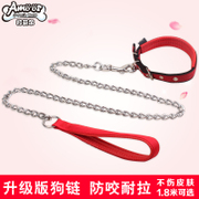 Chain dog leash rope Teddy golden retriever dog leash dog chain small size large dog collar pet supplies