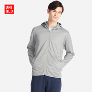 Mens DRY-EX Zip Hooded cardigan (long sleeved) 195413 UNIQLO UNIQLO