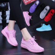 2017 spring summer new sports shoes women's shoe hollow net surface running shoes leisure shoes all-match Korean Students