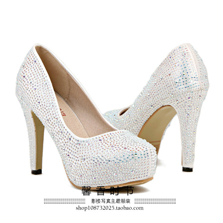 Shop women's shoes women's shoes women's shoes new style of photography photo stage light elegant rhinestone high heels shoes wholesale