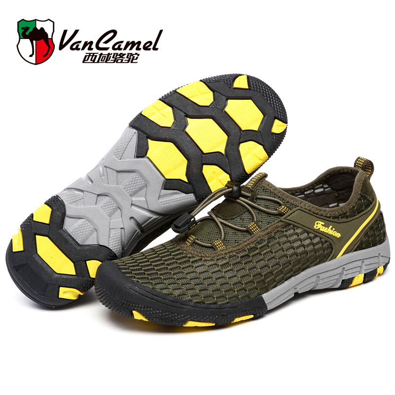 Western region the camel spring and summer Men's casual shoes Men's shoes breathable mesh Dynamic running outdoor sandals net cloth shoes