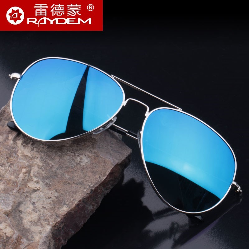 Men riding sun shipped partial tide mirror prevent uv protection sunglasses fishing drive with sunglasses frog mirror