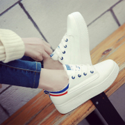 2016 white shoe shoes new Korean 2017 all-match students increased thick bottom plate spring tide leisure shoes
