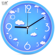 Platinum morning wall clock living room bedroom modern minimalist watch cartoon clock quartz clock creative watch round the clock