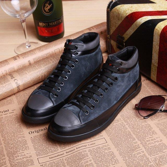 Autumn winter Europe British High shoes nubuck leather sneakers shoes men Korean leisure surge plate shoes Martin boots