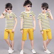 The child of 2017 new boys summer suit children in Korean boy clothes in summer 10 15 children aged 13 to 12