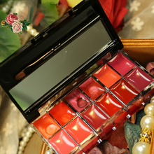 By NANDA 12 color Yingrun Color Lip Gloss Red Lip Gloss plate plate plate professional small cosmetic disc was moist