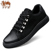 Camel Cheng Men's shoes in winter men's invisibility increased casual leather shoes leather shoe shoes