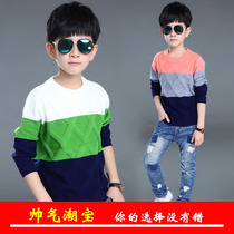 Beckham boys pullover 2017 new flashes in the Korean version of the spring childrens sweaters children sweater men