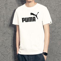 Puma彪马男装短袖夏季新款运动休闲圆领针织半袖透气T恤851189-01