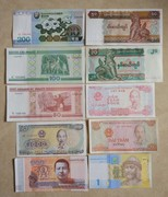 Shipping 10 different foreign currency notes in Vietnam Burma Mongolia Korea commemorative coins commemorative coins of the Soviet Union