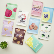 Korea creative fun snack biscuit hand bag lovely purse female mini bag simple coin bag mail