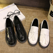 The Japanese round of small leather shoes and cashmere Institute Soviet romantic Oxford shoes Vintage shoes with flat flat shoes