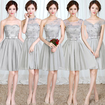 Bridesmaid dress short 2017 new Korean party dress evening dress and sisters girls spring slim sisters dress skirt
