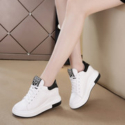White shoe spring 2017 female leisure sports shoes in Korean women all-match white shoes with thick bottom slope