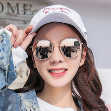2018 new sunglasses, women's round face, Korean version of tidal polarized sunglasses, ins anti-uv eyes web celebrity street photography