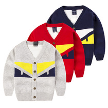 Kids double spring 2017 new childrens sweater Cardigan in Korean version boys sweater jacket spring