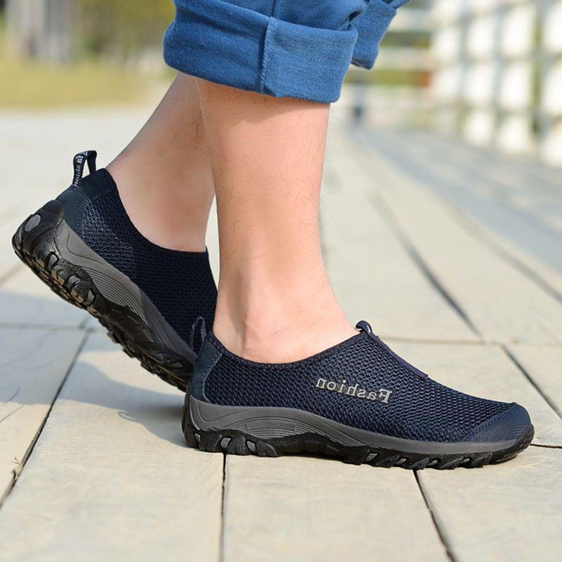 Breathable shoes casual shoes shoes slip summer net net shoe summer shoes old dad mountaineering shoes