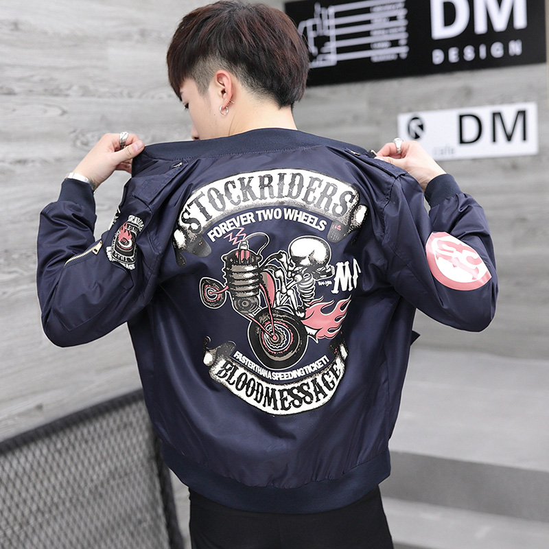 Spring and autumn Baseball Jacket, jacket, male tide, Korean culture, juvenile high school students, handsome flying suit trend