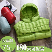 Winter season short thin down jacket broken code size female leisure coat clearance super slim students